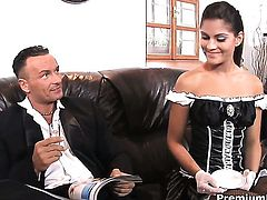 Valentina Rossini cant resist the desire to take guys hard love torpedo in her vagina