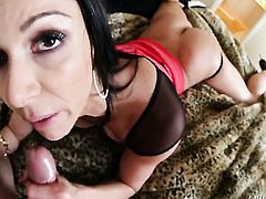Kendra Lust has a good time sucking guys love stick