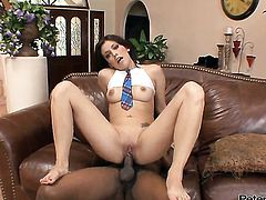 Nikki Vee shows her love for love stick sucking in blowjob action with hot bang buddy