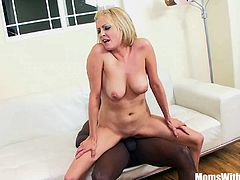 Blonde milf Lya Pink is home alone. She invited her black friend to her home to have the their whole afternoon fucking. Watch how her lovely pierced nipples gets squeezed and her tight wet mature pussy gets banged deep by a big black cock.