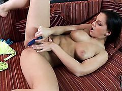 Eve Angel enjoys another masturbation session