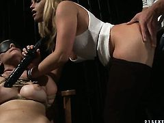 Blonde asks hot guy to insert his love torpedo in her mouth