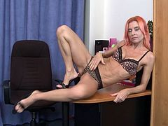 Watch Philana, a mature single woman with a fit body and red hair, undressing in front of the cam and touching every inch of her body with so much lust. Her shaved and wet cunt needs a good fuck, would you fuck that pussy?