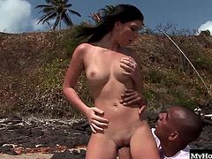 Caylian Curtis and Roxy Panther are the first couple Brazilian beauties youll see and its an interracial, hardcore one on one, with a very horny big boobed blonde voyeur, who masturbates with her dildo while watching a gorgeous brunette getting her hooters sucked, until her lover bangs her shaved pussy from behind, before getting a blowjob for a facial.