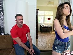 Watch how pervert dad swap his beautiful and innocent daughter, instead of paying the car damages. Not only he swaps her, but he fucks the other's man daughter too, while her princess is giving head like a pro. Watch the whole action!
