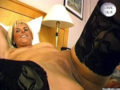 Blonde mature gives hot blowjob