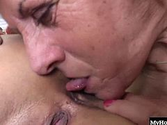 Melanie is a very old lesbian, but that doesnt mean her pussy is dried out and shes not horny all the time She used to take dick back in the day, but now shes after a softer experience, and the touch of a fresh college girl is just what Melanie needs, so she calls up the neighborhood pussy eater named Reneta.