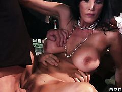 Milf Shay Sights with big hooters needs nothing but a hard rod in her bum to be satisfied