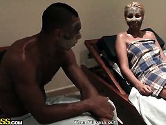 Aspen gets her mouth destroyed by guys sausage
