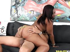 With juicy booty and trimmed muff cant live a day without getting fucked by dudes hard man meat in interracial action