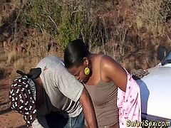 hot chocolade babe gets toyed and fucked at my wild african safari sex tour