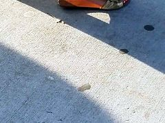 West indian heels at the bus stop