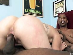 Kasmine Cash just needs her overwhelming sexual desire to be fulfilled in interracial hardcore action