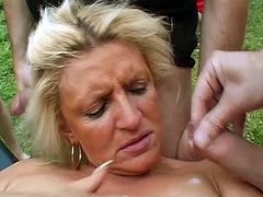 extreme wild german outdoor groupsex fisting and bukkake party gangbang orgy