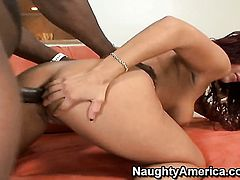 Piercings senorita is wet as the ocean in this steamy interracial scene with lots of pussy fucking