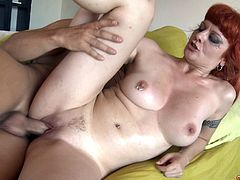 He makes the tattooed redhead his slut for fucking