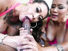 Mouth-watering babe is wet as the ocean in this interracial hardcore session