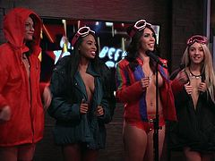 In today's edition of Morning Show, our hot playboy models will tell us some helpful tips for outdoor winter sex. You can believe, such unusual things can save and refresh even dead relations. Just imagine, how cool it can be, fucking at outdoor, under the falling snow. Have fun and enjoy the spicy details.
