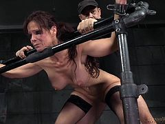 I asked my ex-girlfriend to satisfy my lust, until I find another girlfriend. She refused to do, so I dragged her in my friend's basement. He offered to help, if I allow him to fuck her. When we tied her, it became easy to drill her holes, even with humiliation. I did not stopped, till...