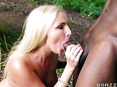 Blonde Georgie Lyall wants mans dick to fuck her mouth