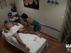 Celia Vi with juicy booty and trimmed pussy and hot man are two sex addicts that make each other happy in interracial porn action