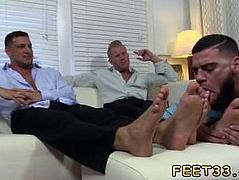 Indian anal gay xxx sex film Ricky Worships Johnny & Joey's Feet