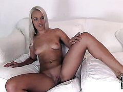 Evelyn strips down to her bare skin for your viewing enjoyment