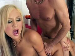 Red hot girlfriends Amy Reid and Puma Swede have a threesome with a guy