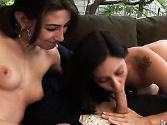 Raylene gets her throat fucked good and hard