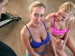 Cfnm cougar spitroasted and pussylicked