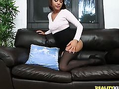 Brunette chica Alex Davis feels intense sexual desire while getting her face covered in man semen
