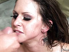 Alanah Rae enjoys cock sucking too much to stop in steamy oral action