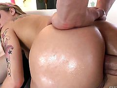 Claire Robbins gets throat fucked with no mercy by hot dude