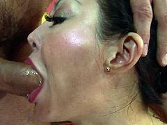 Ange Venus gets anally fucked then facialed