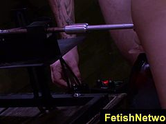 FetishNetwork Mena Li fuck machine bdsm