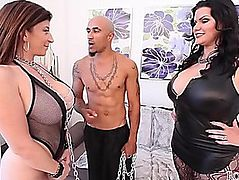 King and Angelina Castro Dominate Sara Jay big beautiful woman TRIO