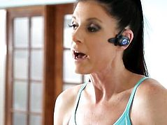 Diminutive tit stepmom licks