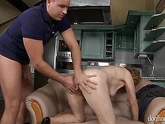 Blonde Izida takes dick up her wet spot