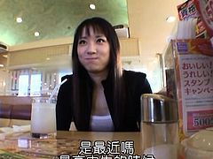 Brunette Asian teen is screwed hard by an older horndog and