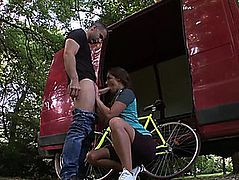 Tough anal in the park with Amirah Adara