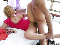 Blonde Krissy Lynn with juicy booty and bald twat makes her anal dreams a reality