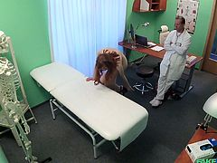 This was Nela's first medical check up and she didn't even know, how it should be. So, when this fake doctor said, that he will check the depth of her vagina with his long dick, she was not against, because she decided it is normal...