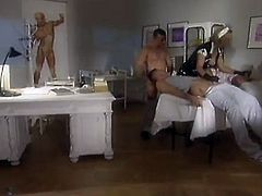 Horny blonde nurse in a gangbang getting hammered hardcore