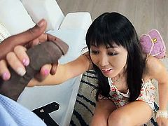 Asian Marica Hase Showing Her Deep Love Of Black Dink