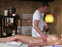 dolly loves to suck cock during massage