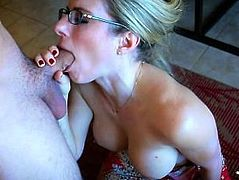 Porn Mom with glasses