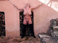 With massive hooters and clean bush cant stop playing with herself