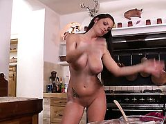 Sheila Grant has fire in her eyes as she fucks herself with sex toy