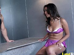 Every beauty has her own fetish, and for Missy Vega it is screwing random strangers. After seducing this bartender she will thoroughly please his massive cum gun just so he can give her a hot facial.