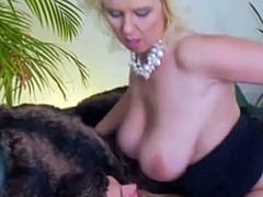 Amazing russian blonde mature fucked by a young gigolò
